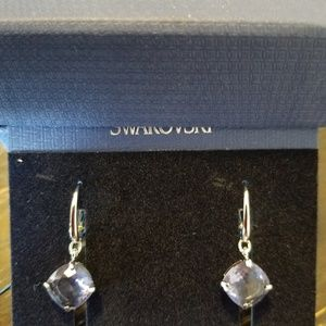 Swarovski tanzanite drop earrings